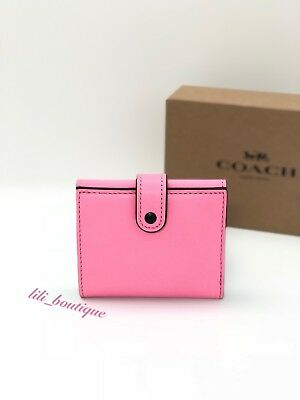 d106486ef15e NWT Coach 1941 Small Trifold Wallet F86909 Leather Floral Multi Neon Pink   225