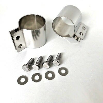 Stainless Ignition Coil CLAMP with Bolts. Suit Norton Triumph and BSA 99.1151