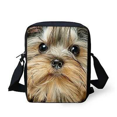 Cute Yorkshire Terrier Small Messenger Cross Body Shoulder Bag Sling Purse Gifts