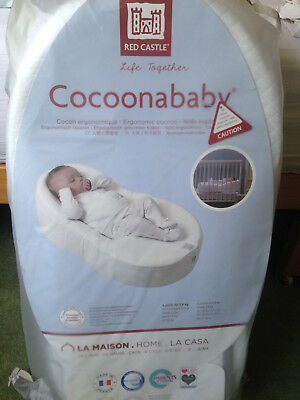 New Cocoonababy Red Castle Baby Nest - White