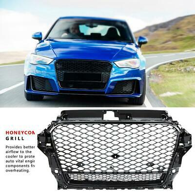 RS3 Front Grille Hood Sport Henycomb Bumper Grill For 14-16 Audi A3 S3 8V 13-16