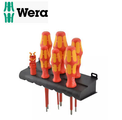Wera Kraftform 6 VDE Isolé Phillips & Fente Set de Tournevis + Pinces, 344589
