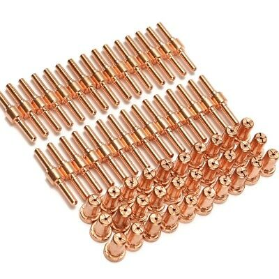 60pcs Extended Long Tip Electrode & Nozzles For PT31 LG40 40A Air Plasma Cutter