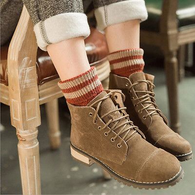 5 Pairs Women Cotton Socks Striped Thick Autumn Winter Casual Warm Socks 6A