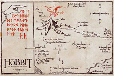 The Hobbit: Desolation Of Smaug - Map POSTER 61x91cm NEW
