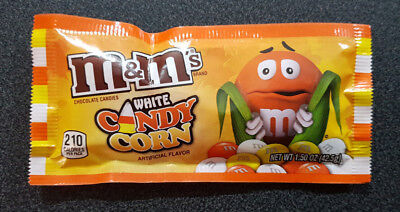 4 x M&M White with Candy Corn Bags 42.5g - USA (Halloween Candy)
