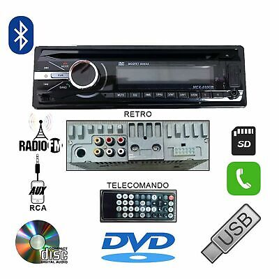AUTORADIO 45Wx4 STEREO AUTO GT490 LETTORE CD DVD MP3 AUX USB SD VIVAVOCE BLUETOO