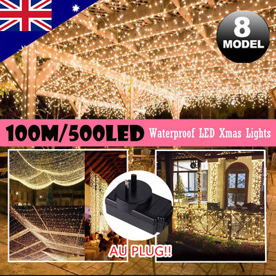 100M 500 LED Waterproof Fairy Christmas Fairy String Lights Wedding Party Garden