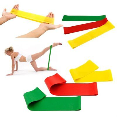 Resistance Workout Bands Pilates Fitness Excercise Rehab Yoga Core Loop I5