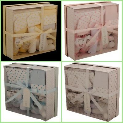 Beautiful Low Price 7 Piece New Born Baby Unisex Gift Box Shower Present