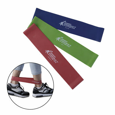 Set Of 3 Heavy Duty Resistance Band Loop Power Gym Fitness Exercise Yoga B1