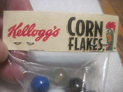 selling very old small bag of marbles given away by Kellogs corn flakes came in