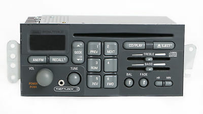 1996-03 Pontiac Grand Prix OEM Radio AM FM CD Player w Auxiliary Input -16265532