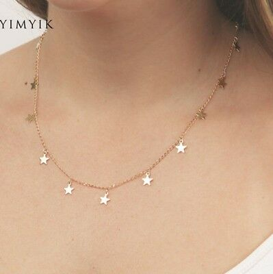 Simple Modern Abstract Golden Hoop Fashion Necklace Chain Pendant Alloy UK 3FOR2