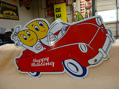 Very Nice Esso Happy Motoring Glass Marble