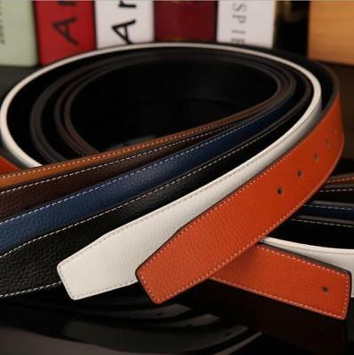 Mens Designer Leather H Belts For Men H Belt Strap Only No H Buckle Reversible