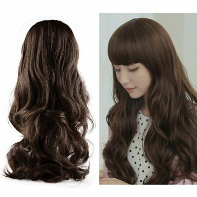 New Fashion Lovely Women Girl Wig Long Wavy Curly Hair Cosplay Party Wigs IM