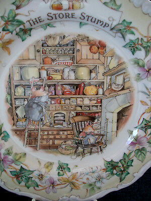 Royal Doulton England Brambly Hedge 8Ins Plate The Store Stump 1St Quality