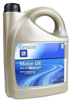 Genuine Vauxhall 5W-30 Fully Synthetic Engine Oil Dexos 1 Long Life 95599877 5L
