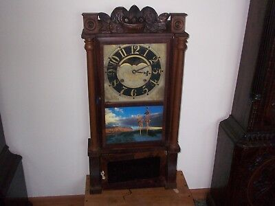 Antique Birge And Mallory Triple Decker Weight Clock .1838-1843