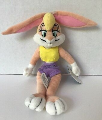 "Warner Brothers Studio Store Bugs Lola Bunny 10"" Plush Bean Bag Toy Beanie"