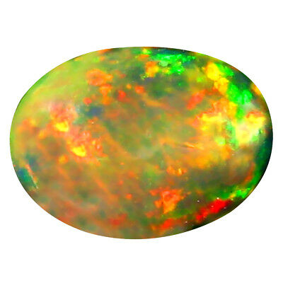 0.69 Ct AAA Spectaculaire Ovale Cabochon Forme (9 X 7 mm) Opale Noire Pierre