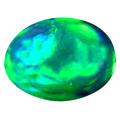 0.71 Ct AAA Charmantes Ovale Cabochon Forme (8 X 6 mm) Naturel Opale Noire