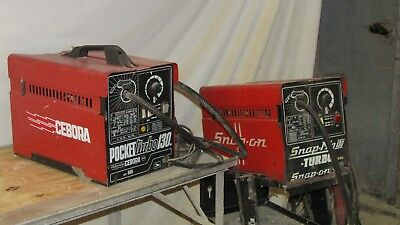 2 MIG welders, Snap-on and Cebora. Both work, but need attention. With gas.