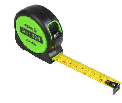 Hultafors Fisco 5m (16ft) Hi-Viz A1-Plus Ruban de Mesure & Clip