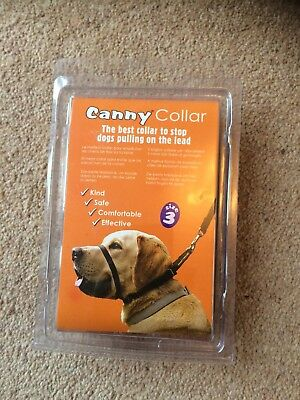 Black Canny Collar Size 3 Med (33 - 38 cms) Anti Pull Collar - Perfect Condition