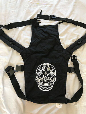 Connecta Baby Toddler Carrier Candy Skull Black and White