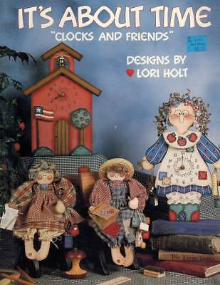 """It's About Time """"Clocks & Friends"""" Tole Painting PATTERNS Primitive Animal Doll"""