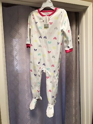 5f73cb716 NEW CARTER S 1 Piece Fleece PJs Owl   Moon Print NWT 2T Girls ...