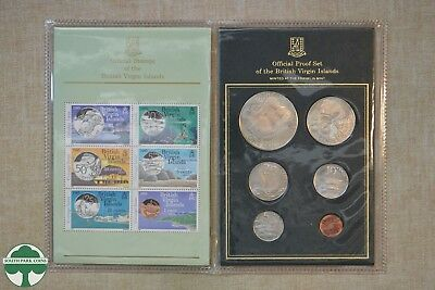 Official Proof Set & Stamps Of British Virgin Islands With Coa - Franklin Mint