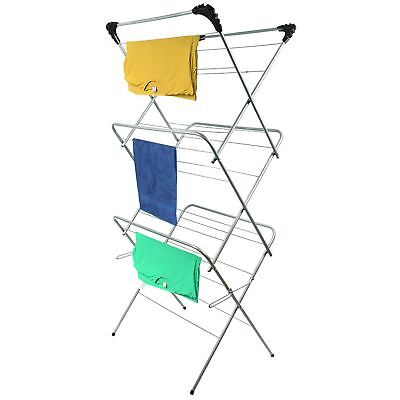 3 Tier Clothes Airer Laundry Dryer Concertina Tower Indoor Outdoor Patio Horse