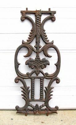 Architectural Salvage Antique Art Nouveau Ornate Cast Iron Stair Porch Baluster
