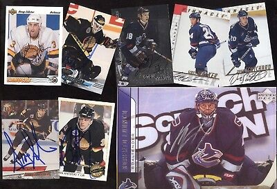Vancouver Canucks Jersey Autograph Nhl Hockey Card See List