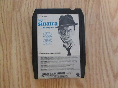 Frank Sinatra This Is Sinatra His Very Best 8 Track Tape - TESTED - NICE!