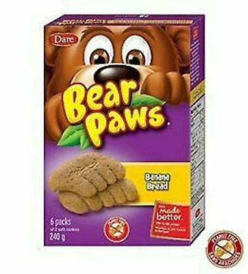 Dare Bear Paws Banana Bread Soft Snack Cookies 240g {Imported from Canada}