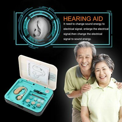 Adjustable Digital Hearing Aid Kit Behind the Ear GLE Sound Voice Amplifier