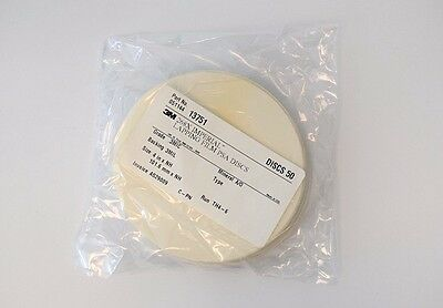 3M 268X A/O Lapping Film, PSA, .3MIC 3MIL 50 sheets 4 in x NH Adhesive Back, NEW