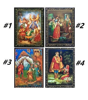 LOVELY BRAND NEW RUSSIAN LACQUER BOXES/RUSSIAN EPICS/10cmx8cm/DIFFERENT DESIGNS