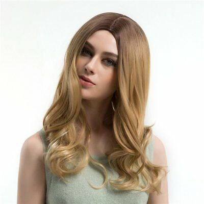 WIG365 LC092 Long loose Wave Light Brown Gold 56cm Women Synthetic Full Hair WN