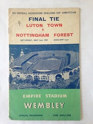 1959 Fa Cup Final Luton Town V Nottingham Forest