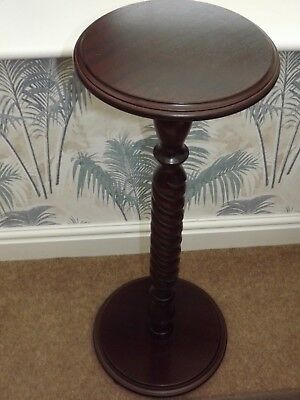 Vintage Mahogany effect jardiniere. Barley twist column Plant / Lamp Stand Table