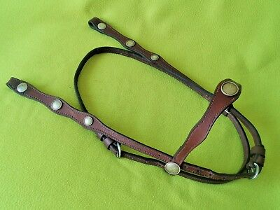 FANCY Vintage SILVER Concho Horse Show HEADSTALL Bridle~Browband Style~NO RESERV