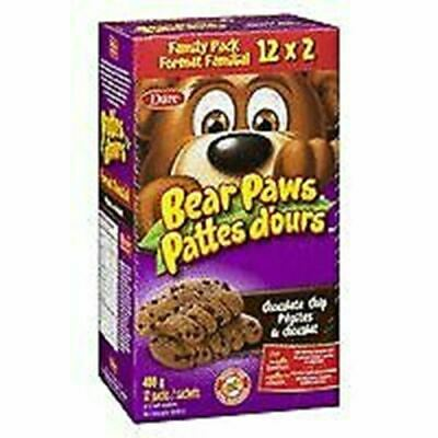 Dare Bear Paws Chocolate Chip Cookies 480g  Peanut Free {Imported from Canada}