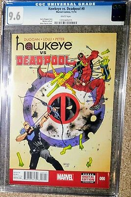 Hawkeye Vs Deadpool #0 1st Spider-Gwen Cameo CGC 9.6 2014 Marvel
