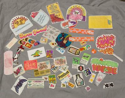 Vintage Large Lot of Decals Stickers 1970's 1980's Wacky Packages etc. g25