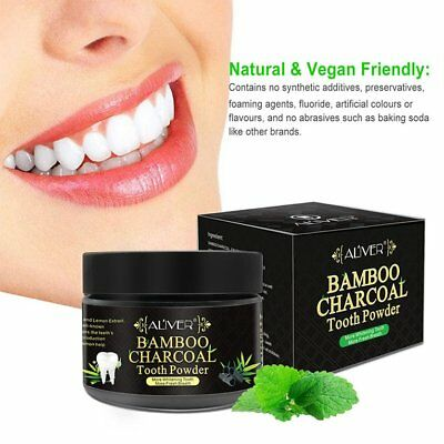 Activated Charcoal Teeth Whitening Powder 100% Natural Bamboo Tooth Powder BU
